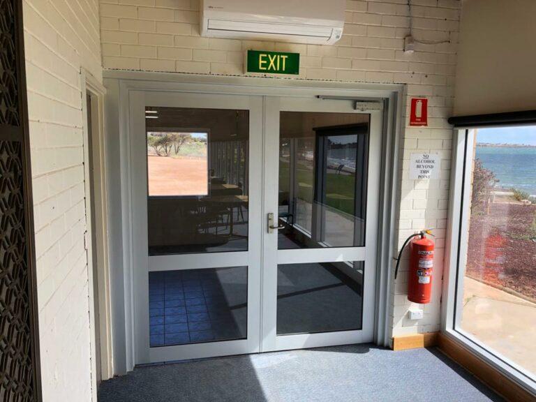 Nu-View Aluminium Windows, Doors & Glass - Ceduna Sailing Club Doors