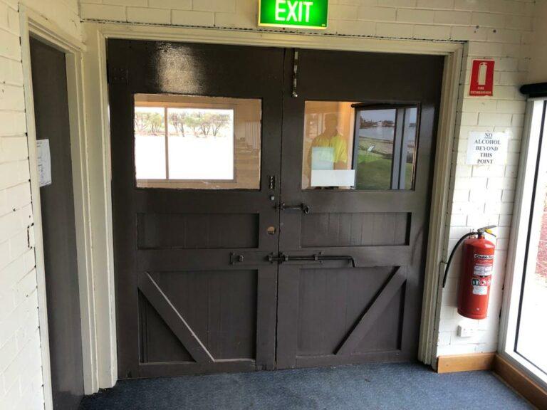 Nu-View Aluminium Windows, Doors & Glass - Sailing Club Doors Before